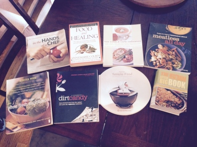 The cookbooks for vegetarians and vegans